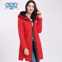 Women's Coat Spring Autum Hot sale Thin Cotton Parka Long Plus Size Hood Women Jacket New Designs Fashion CEPRASK 201020