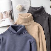 Kore Erkekler Triko 2020 Turtleneck Örme Kazak Kazak Sonbahar Jersey De Hombre Moda Erkek Kış Kıyafetleri Çekme Homme