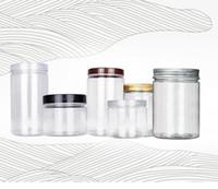 250 ml 350 ml de petits pots en plastique en plastique transparent avec couvercle en aluminium Effacer le pot cosmétique vide vide avec couvercle en stock1