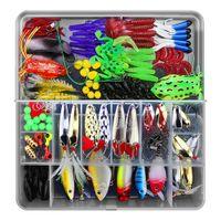 141 unids Accesorios de pesca Kit de pesca señuelos de pesca Cebos de cebadores Cuervos Switchits Jig Ganchos Kit de ganchos de pesca Conjunto de kit con caja de aparejos 201031