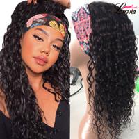 Perruques de cheveux humains frisés 150% Densité Perruques de cheveux bouclés avec bandeau pour être facile à installer