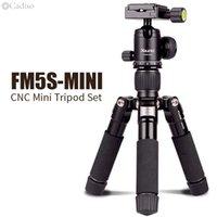 Cadiso FM5S المحمولة خفيفة الوزن Tripode سفر الوقوف سطح المنضدة فيديو ميني ترايبود مع 360 درجة الكرة رئيس لكاميرا DSLR