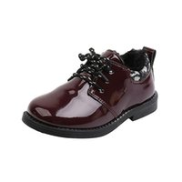 COZULLAA Children Winter Warm Plush Lining Fashion Patent Leather Shoes Kids Girls Boys Lace-Up Cotton Shoes Size 26-36