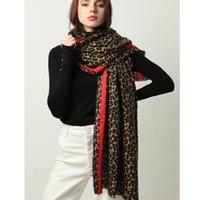 Inverno caldo donne sciarpa moda animale leopardo stampa signora spessa scialli morbidi e avvolgimenti femmina foulard cashmere sciarpe coperta
