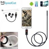 미니 카메라 스피 링 된 고양이 7mm 렌즈 1 / 2 / 5m 소프트 케이블 방수 6LED 안드로이드 내시경 USB 검사 튜브 카메라 Borescope1