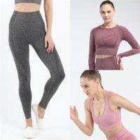 FZP GXQIL Nahtlose Yoga Outdoor Kleidung Yoga Gym Klage Outfit Fitness Set Sport Aktive Tragen Workout Gelb Für Frauen Übung Frauen Kleidung