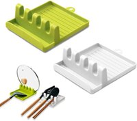 Cooking Utensil Rest Holder Kitchen Shelving Fork Storage Spoon Holders Non-slip Pad DHL Free Freight
