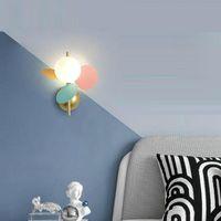 Wandleuchte Nordic Macaron Zweig Blätter Sconces Schlafzimmer Gang Spiegel Lichter Home Interior Decor Loft Beleuchtung Netto Red Nachtlicht