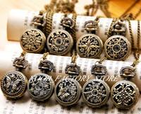 New Quartz Vintage Pequeno Série Hollow relógio de bolso colar de jóias por atacado moda relógio camisola cadeia cor de cobre cor bezel