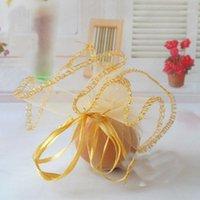 100 stücke Durchmesser 26 cm Gold Runde Sachet Organza Tasche Kordelzug Schmuck Verpackung Taschen für Hochzeit / Geschenk // Candy / Christmas1