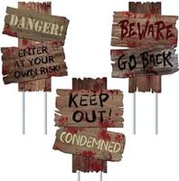 할로윈 장식 파티 장식이 HH9-3346 공급 징후 야드 말뚝 야외 소름 모듬 경고 로그인 무서운 좀비 테마를 조심