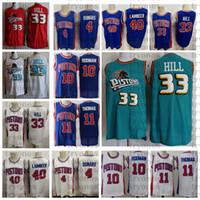 NCAA Vintage 33 Grant Hill 10 Dennis Rodman 11 Isiah Thomas 40 Bill Laimbeer 4 Joe Dumars Basketball Jersey College Steins T Shirts