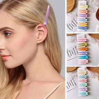 12 Pieces a Card Large Solid Color Bangs Hairpin Plastic Hairclip Hair Accessories for Girls E9b9