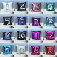 32 Farben Glitter Pailletten Kissenbezug Meerjungfrau Kissenbezug Kissen Magische Wurfkissenbezug Home Dekorative Auto Sofa Kissenbezug
