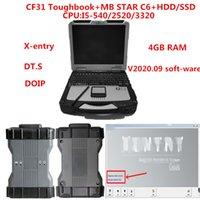 CF31 Toughbook diagnóstico PC 4G CPU ram i5 com MB Estrela multiplexer C6 MB estrelar C6 VCI Diagnóstico com o mais novo V2020.09 macio-ware
