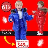 Orgelemom Rusia Conjuntos de ropa para niños, ropa para niñas para niños New Yey Boys Parka Chaquetas Niños Capa Down Snow Wear LJ200820
