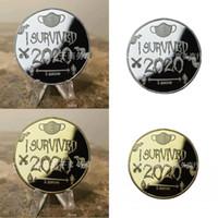 Ich überlebte Münzen Maske Künste und Handwerk Mann Frau Muster Gedenkmünze Gold Silber Plating Rundkreisskulptur 6JP L2