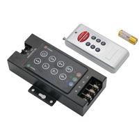 Black Iron DC 12V-24V 30A 8key RF Controlador LED RGB wirelesss com controle remoto para RGB levou faixa