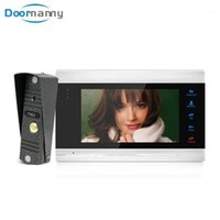 Sistema de intercomunicación de video de Doornanny para Home Apartments 4 Cables Video Doorbell Doorbel 110 ° Ángulo salvaje 1200TVL Analógico Interco1