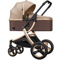 Cochecito de bebé High Landscape 2 en 1 cochecito puede sentarse y reclinarse Absorbador de dos vías Ligero Plegable Baby1