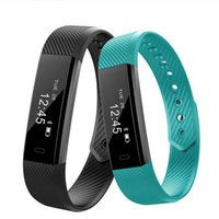 Smartch ID115 Smart Bracelet Fitness Tracker Step Counter Activity Monitor Band Alarm Clock Vibration Wristband IOS Android phone 15pcs lot