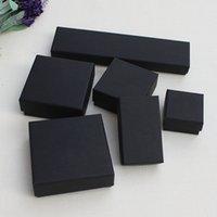 Vintage Bayan Takı Hediye Kutusu Çeşitli Tipi Siyah DIY Kraft Kağıt Kolye Küpe Yüzük Bilezik Kılıf Ambalaj Kutuları Yüksek Kalite 1 3LS10 L2