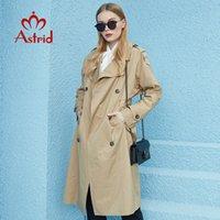 Astrid Nova Primavera Outono Trench Brasão longa Moda à prova de vento capô tamanho grande Exteriores Blusão vestuário feminino 7246 201016