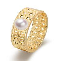 Браслет элегантный натуральный пресноводный жемчужина для женщин мода женская манжета широкие браслеты ювелирные изделия