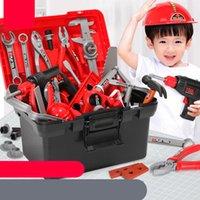 Игрушки для ремонта мальчиков для мальчиков для мальчика Дети Притворяться Play Baby Kids Engine Engineer Simulation Box Отвертка гаечный ключ LJ201009