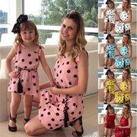 PPXX Famiglia Corrispondenza Abbigliamento Madre Della Figlia Dress Polk Polk Dot Mamma Ragazza Bambini Famiglia Corrispondenza Abito Bambina Abiti Abiti Vestidos LJ201112