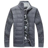 Hiver Mens Polle-pull Manteau épais Patchwork Cardigan Cardigan Cardigan Muscle Fit Vestes tricotées Vêtements mâles à la mode pour l'automne