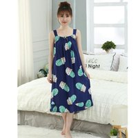 Oversize Women' s Cotton Thin Nightgowns Ladies Long Sle...
