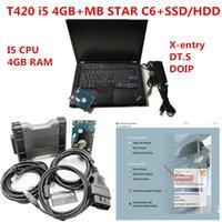 laptop T420 diagnóstico PC 4G CPU ram i5 com MB Estrela multiplexer C6 MB estrelar C6 VCI Diagnóstico com o mais novo V2020.09 macio-ware