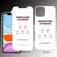 Front Back Matte Inquebrável TPU Protetor de tela para iPhone 12 mini11 Pro Max Huawei Mate 40 Pro LG Wing 5G Velvet Samsung S20 Fe S20 Plus
