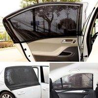 Carro Sunshade 1 par verão Proteção UV frontal janela traseira janela de sol tom de sol cortina de malha anti-mosquito para sedan suv mpv1