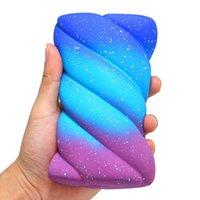 Jumbo Galaxy Renkli Spun Pamuk Şeker Squishy Ekmek Krem Kokulu Yumuşak Sıkmak Oyuncaklar Yavaş Yükselen Anti Stres Çocuk Eğlenceli Hediye Y0110