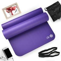 10mm nbr yoga tapete pilates esteira antiderrapante fitness almofada indoor treino doméstico ginástica mats almofada w / armazenamento saco 183 x 66 x 1cm1