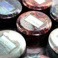 Аромашенная свеча опарника пустая круглая чернь может DIY ручной работы свеча чай еды конфеты планшетный аксессуары ящик для хранения с крышкой 648 S2
