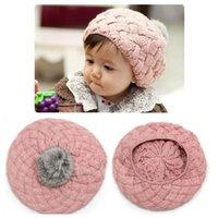 Berets Child Baby Kids Casual Pompom Handmade Beret Cap Winter Girl Boy Warm Crochet Knitted Pumpkin Hat Gorros