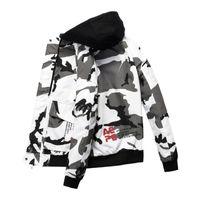 Erkek Ceketler Sonbahar Kış Moda Erkekler Camo Erkek Streetwear Bombacı Ceket Erkek Kamuflaj Hip Hop Yakışıklı Dış Giyim Mont