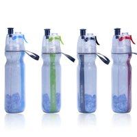 Soğuk yalıtımlı bisiklet su şişesi sprey sis sıkma şişe 17 oz (500ml). BPA ücretsiz 201106