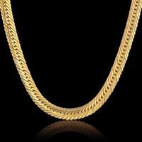 Tüm Salevintage Uzun Altın Zincir Erkekler Için Hip Hop Zincir Kolye 8mm Altın Renk Kalın Curb Kolye erkek Takı Yakası Collier1