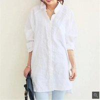 Clobee plus größe 2020 sommer stil frauen blusen baumwolle leinen bluse blusas mujer weiße hemd tops blusas camisa feminina a4311