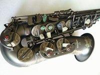 Beste Qualität Yanagisawa A-992 Altsaxophon E-flach schwarz Saxo-Alt-Mundstück Ligature-Neck-Nacken-Nackenmusikinstrument Zubehör und Hard Box