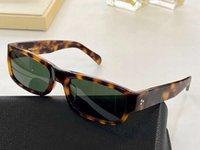 صغير مستطيل السلحفاة الخضراء النظارات الشمسية 40087 OCCHIALI دا الوحيدة فيرماتي للجنسين أزياء النظارات الشمسية مع صندوق