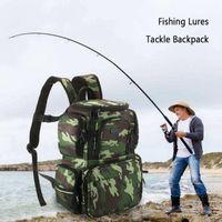 Lixada Fishing Tackle Bag Large Capacity Camouflage Bag Backpack Fishing Storage Lures Bait Box For Hunting Travel Camping