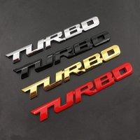 3D Emblema Turbo Metallo Grill Tronco posteriore Badge Auto Auto Sticker per Audi BMW FORD Focus VW Skoda Seat Peugeot Lada Renault Hyundai