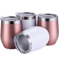 معزول انقر نقرا مزدوجا 12OZ الفولاذ المقاوم للصدأ البهلوان البيض على شكل كؤوس متعددة الأغراض كأس أكواب النبيذ يشرب القهوة كوكتيل البهلوان DHL RRA3713