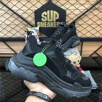 DHL envío gratis 2020 fashion triple-s paris 17fw triple zapatillas de deporte para hombres mujeres negro rojo blanco verde casual papá zapatos de papá tenis creciendo