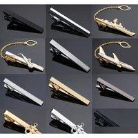 Nieuwe en hoge kwaliteit lasergravure التعادل كليب الأزياء نمط goud zilver en zwarte مانن zakelijke التعادل pin gratis الرافعة jqu4g